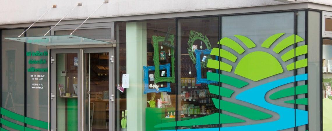 Bioherz Shop Andritz von aussen