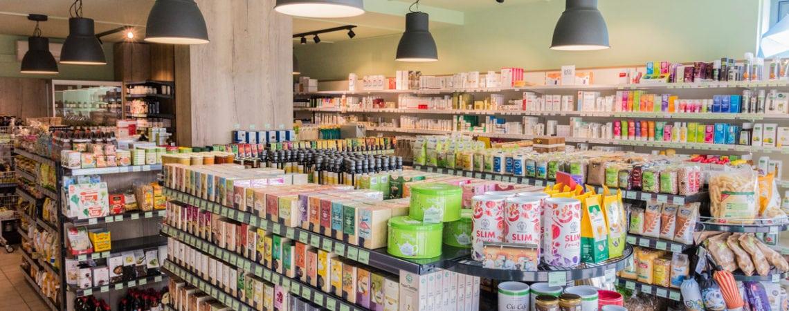 Innenansicht Bioherz Shop Andritz